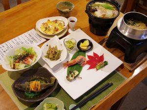 夕食(秋メニュー一例)
